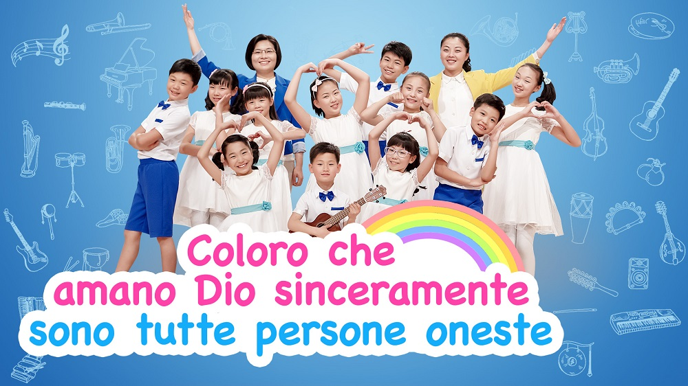 """Canzone cristiana per bambini - """"Coloro che amano Dio sinceramente sono tutte persone oneste"""""""