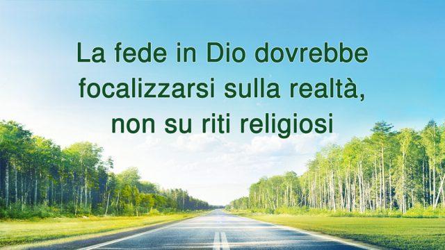 La fede in Dio